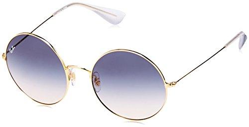 Ray-Ban Women's Ja-Jo Round Sunglasses, Gold, 55 - Ban Ray Jajo
