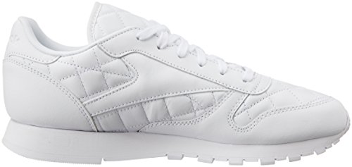 Nero Donna Quilted Sneaker Reebok Bianco Classic Leather cn0qFFUSf