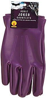 The Joker Adult Gloves Purple, One Size -