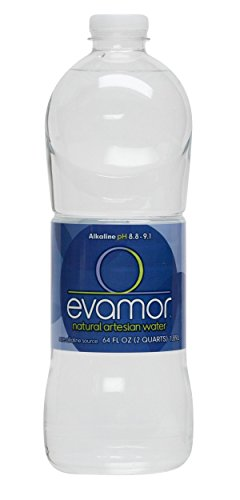 Evamor Natural Alkaline Artesian Water, 64-Ounce (Pack of 6) ()