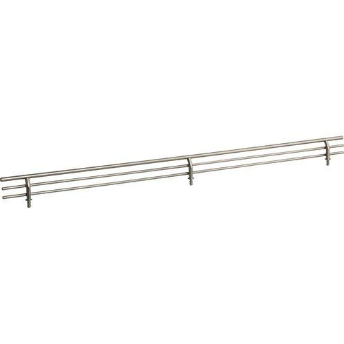 23 Inch Shoe Fence for Shelving - Satin Nickel