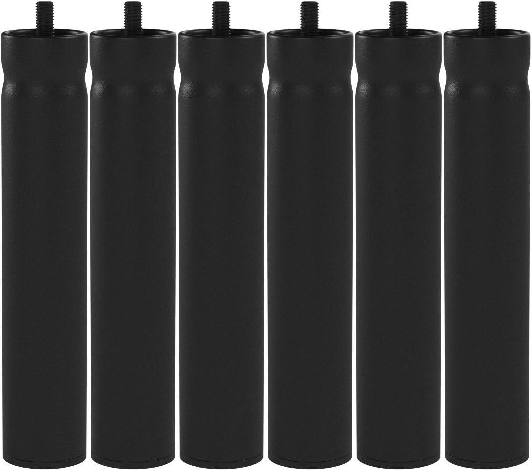 WOLFPACK LINEA PROFESIONAL 5110110 Juego Patas Somier Redondas (4 Unidades) Ø 5 x 27cm, Metal, Gris, 5 x 27 cm