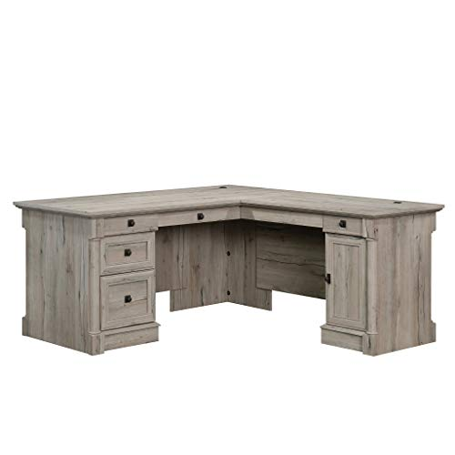 Sauder 424811 Palladia L-Desk, Split Oak -