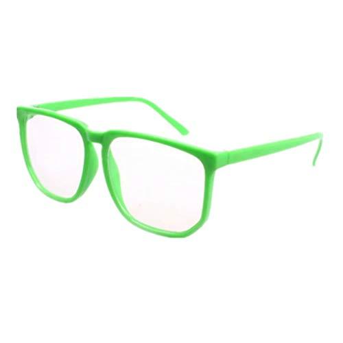 Shiratori Unisex Classic Retro Large-Framed Glasses Plastic Glasses Frame Nerd Glasses Clear Lens Glasses Green