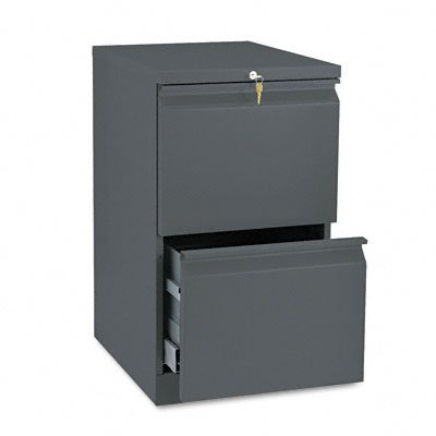 HON H33820R.L.S 19-7/8-Inch Efficiencies Mobile Pedestal File with 2 File Drawers, Charcoal ()