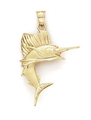 SwordFish 14 Carats Pendentif JewelryWeb vernis