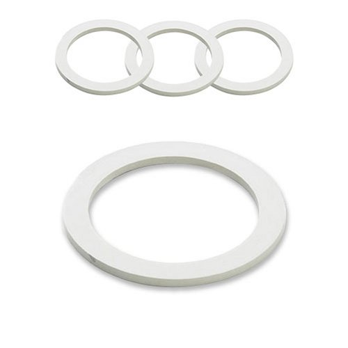 Gaskets and Filter For 9 Cup Stovetop Espresso Coffee Makers (Steel Espresso Cups)