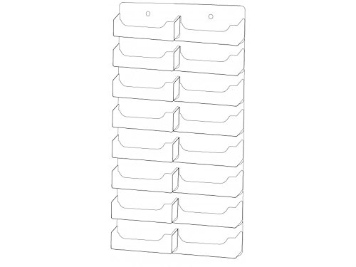 Marketing Holders 16 Pocket Business Card Holder Wall Mount Display by Marketing Holders