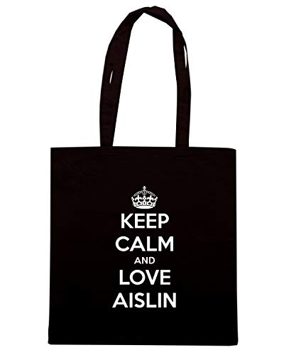 Borsa Shopper Nera TKC1361 KEEP CALM AND LOVE AISLIN