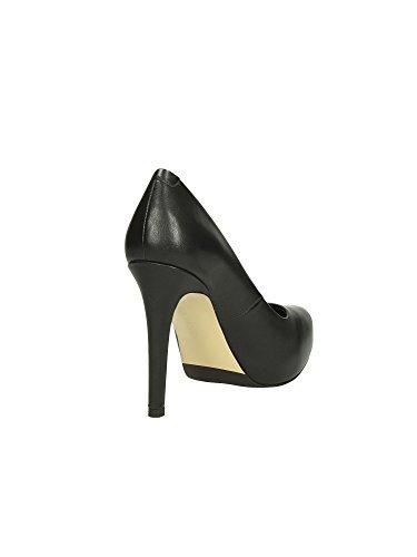 Caf Mf125 Peau Noir Talon Nero Chaussures Plateaux Noire Decollet Intérieure Femme rfrdWq8OF5