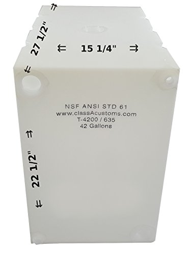 (Class A Customs 42 Gallon Water Holding Tank NSF Approved T-4200/635)