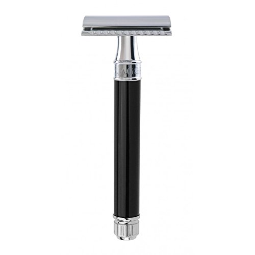 Edwin Jagger DE Safety Razor, Extra Long' Handle, Black (Best Edwin Jagger Safety Razor)