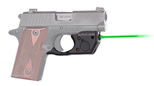 ArmaLaser SIG P238 P938 TR8G Super-Bright Green Laser Sight with Grip Activation