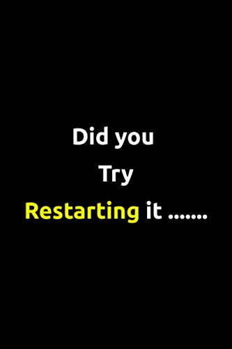 Did you try restarting it: Software Developer Lined Notebook Gift Journal Daily Planner Diary 6″x 9″ Geek Programmer Blank Funny Book 100 Page