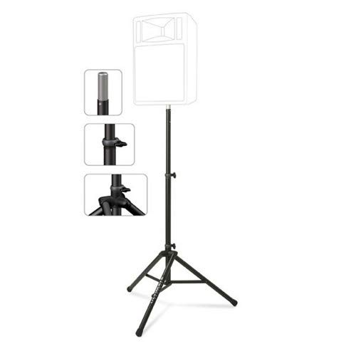 Ultimate Support TS-80B Original Series Aluminum Tripod Speaker Stand with Integrated Speaker Adapter ()