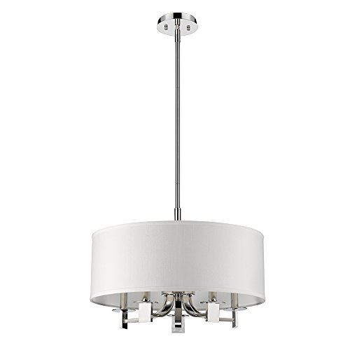 - Acclaim Lighting IN21141PN Andrea Indoor 5-Light Pendant with Fabric Shade, Polished Nickel