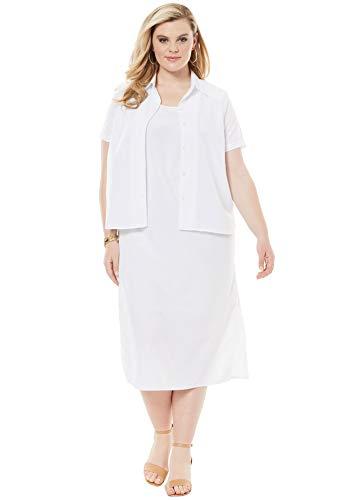 Roamans Women's Plus Size Jacket Dress Set -