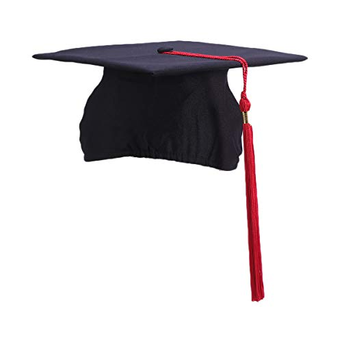 - Amosfun Bachelor Graduation Caps Adult Graduation Hat with Tassels for Graduation Ceremony Party (Red)