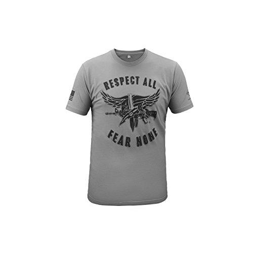 T-Shirt SWAT Operator Respect All/Fear None - Black/Gray XL