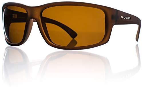 Bucci Sunglasses Torch Chai Matte Polycarbonate Polarized (High-Def Brown Polarized ()