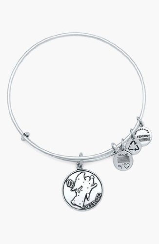 Alex and Ani Women's Virgo Charm Bangle Rafaelian Silver Finish One Size