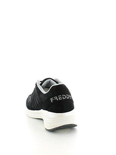 Freddy - Zapatillas para deportes de interior de Piel para mujer negro