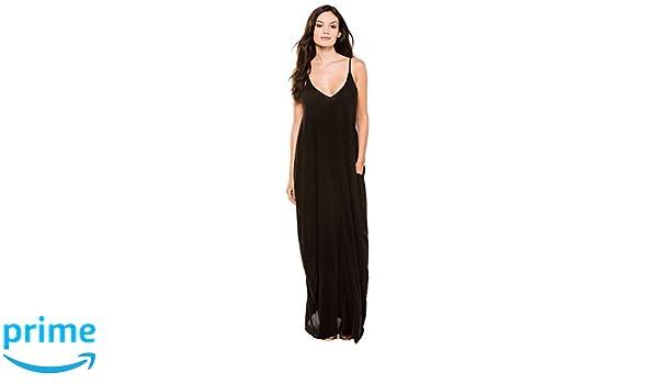 401248ec4b Elan International Women's Wovens Maxi Dress Swim Cover Up at Amazon Women's  Clothing store: