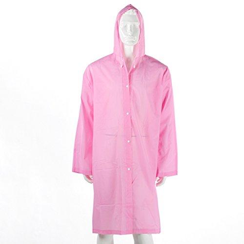 Adulte Rose Imperméable Violet Épaisseur Raincoat Grasse couleur Transparent Matière Mode tHqx1Pw