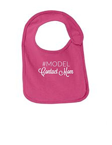 - Model Contact Mom Funny Infant Jersey Bib Sangria One Size