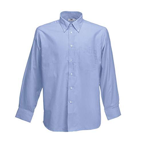 Oxfordblau Manica Lunga Camicia Classica amp;c B Uomo YwHqRR