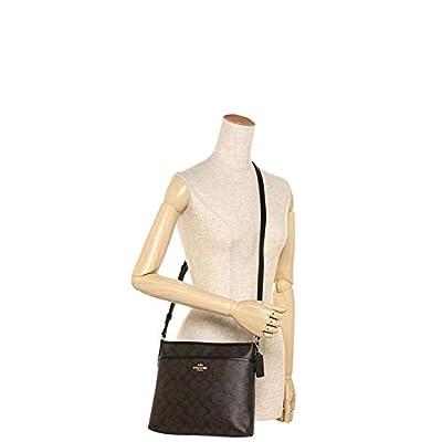 COACH Signature Jacquard Stripe Zip File Bag