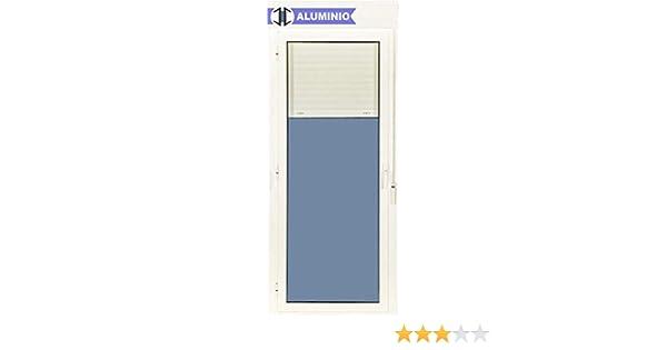 Puerta Balconera Aluminio Practicable Izquierda Con Persiana PVC ...
