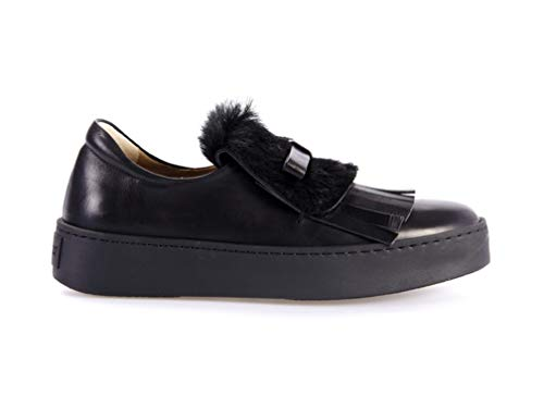 Scarpa Donna Sneaker D´or Pelle Moccassino In Nera Bassa Pomme qtZBvn