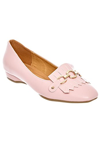 Comfortview Womens Wide Aliza Flats Rose Mist
