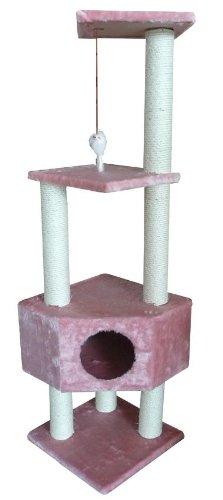 52″ Pink Cat Tree Condo Scratcher, My Pet Supplies