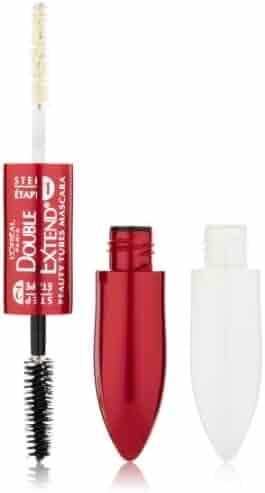 L'Oréal Paris Double Extend Beauty Tubes Lengthening Mascara, Black, 0.33 fl. oz.