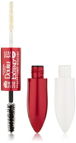 L'Oréal Paris Double Extend Beauty Tubes Lengthening Mascara, Black, 0.33 fl. oz.