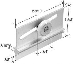 Package Roller Shower Assembly Door (CRL 3/4 Oval Edge Nylon B.B. Sliding Shower Door Roller Assembly - Package by C.R. Laurence)