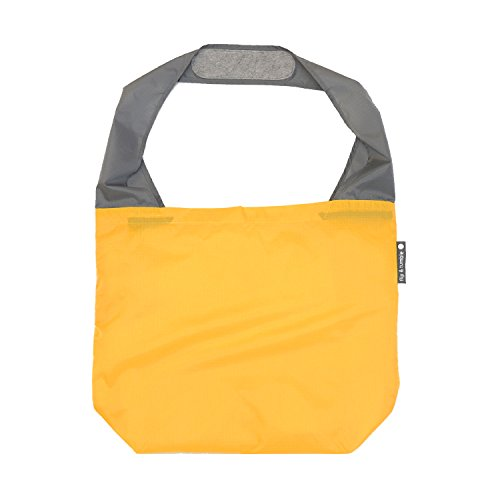 FLIP AND TUMBLE – Premium Reusable Grocery Bag - perfect Shopping Bag, Beach Bag, Travel Bag, Yellow