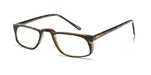 9a656ebf7b4 45mm Rectangular Reading Glasses Men and Women - Durable Frame w Cable  Temples