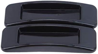 Pinhan - Manijas de seguridad autoadhesivas para puertas correderas, plástico abs, negro, 10.9*3.1*1.4cm: Amazon.es: Hogar