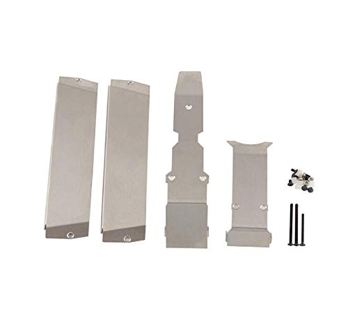 Chassis Kit Armor - Cinhent Remote Control Car Upgrade Accessories Stainless Steel Chassis Armor Skid Plate, Bottom Chassis Armor for 1/10 Traxxas ERevo E-Revo 2.0
