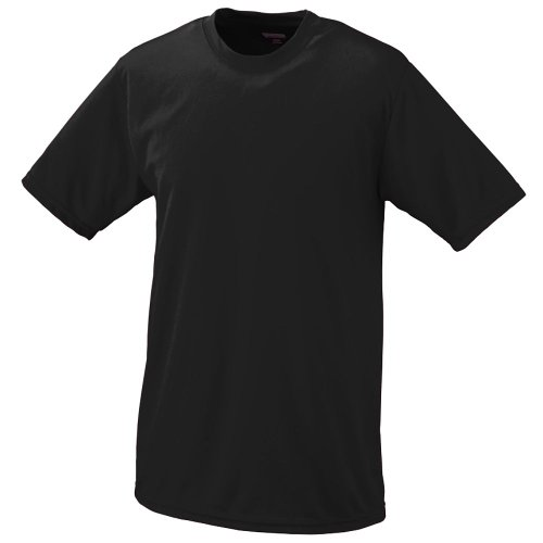 (Black Adult XL Moisture Management Wicking Performance Cool and Comfortable Athletic Short Sleeve Shirt & Undershirt (All Sports: Baseball, Softball, Football, Soccer, Lacrosse, Volleyball, Track, etc))