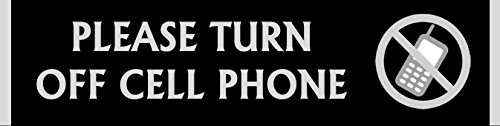 Set of 2 PLEASE TURN OFF CELL PHONE signs