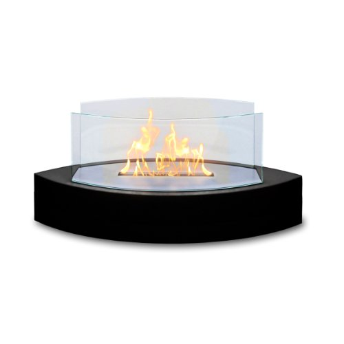 Style Ventless Gel Fuel Fireplace (Anywhere Fireplace - Lexington Tabletop Ethanol Fireplace in Black High Gloss)