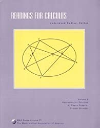 Readings for Calculus: Resources for Calculus Collection : A Project of the Associated Colleges of the Midwest and the Great Lakes Colleges Associat (M a a Notes)