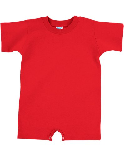 Rabbit Skins Infant T-Shirt Romper, Red, 12