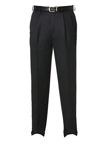 Savane Men's Comfort Waist Microfiber Performance Dress Pants (34W X 34L, Dark Navy) -