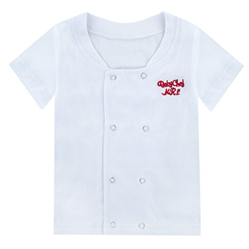 Mombebe Baby Boys' 3 Pieces Chef Short Clothing Set with Hat (0-6 Months, Short Sleeve) by Mombebe (Image #1)