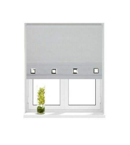 Natural, WIDTH 60cm x DROP-160cm Trendi/® Roller Blinds Easy Fit Trimable Home Office Window Square Eyelet Roller Blind